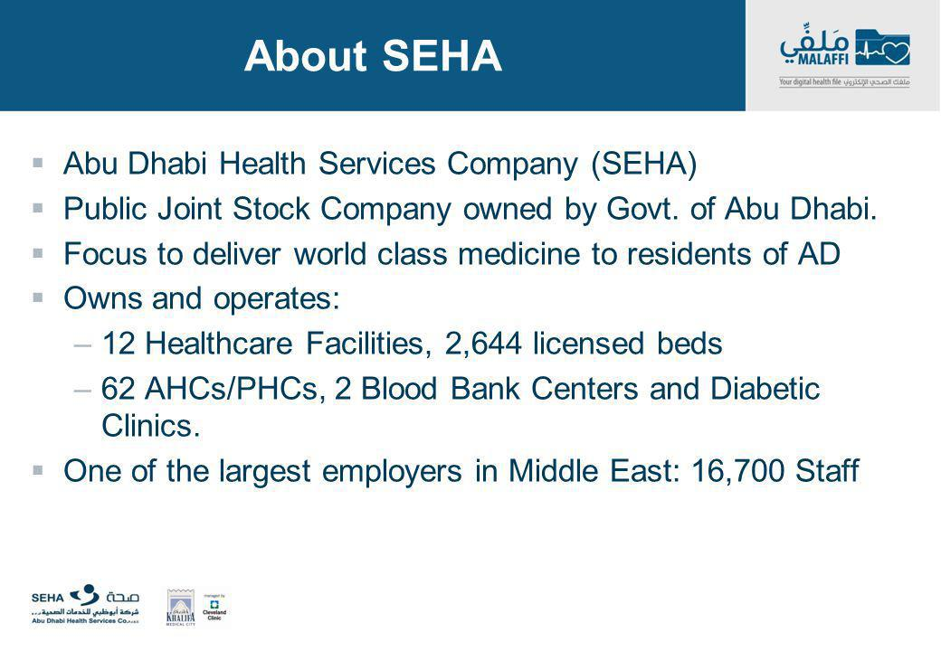 About SEHA Abu Dhabi Health Services Company (SEHA)