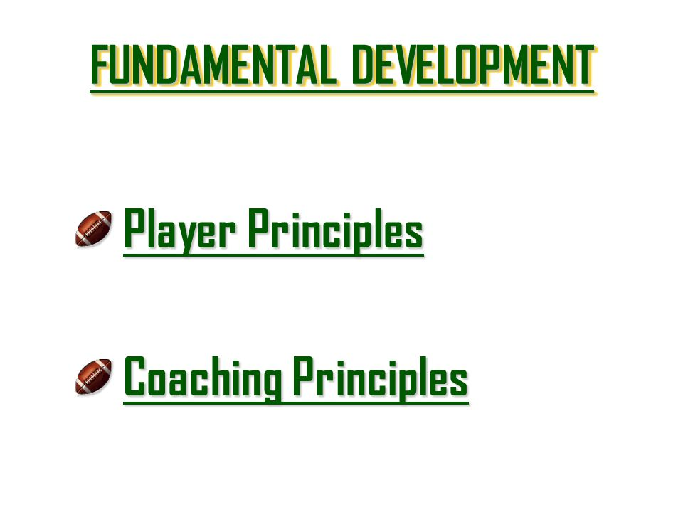 FUNDAMENTAL DEVELOPMENT