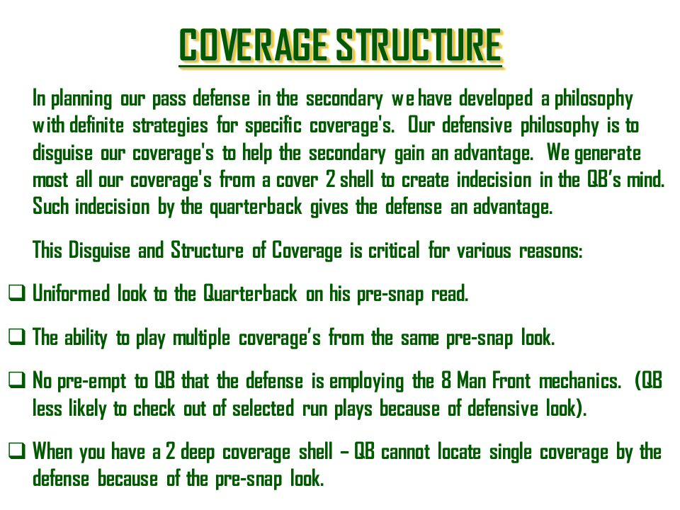 COVERAGE STRUCTURE