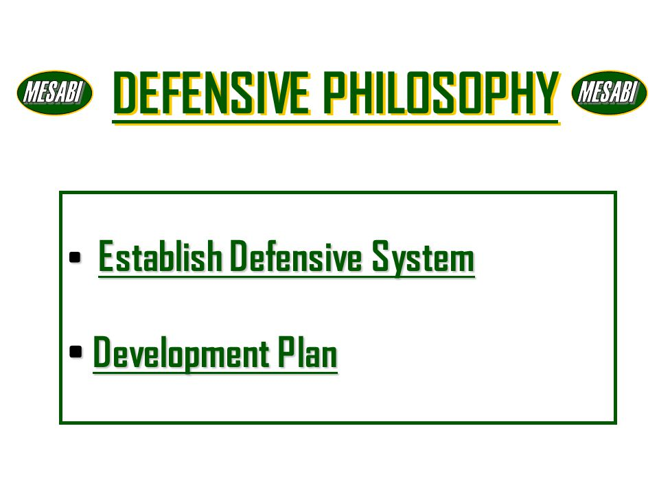 Establish Defensive System Development Plan
