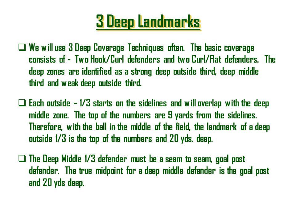 3 Deep Landmarks