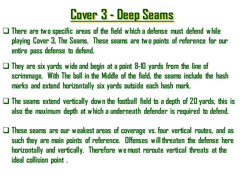 Cover 3 - Deep Seams
