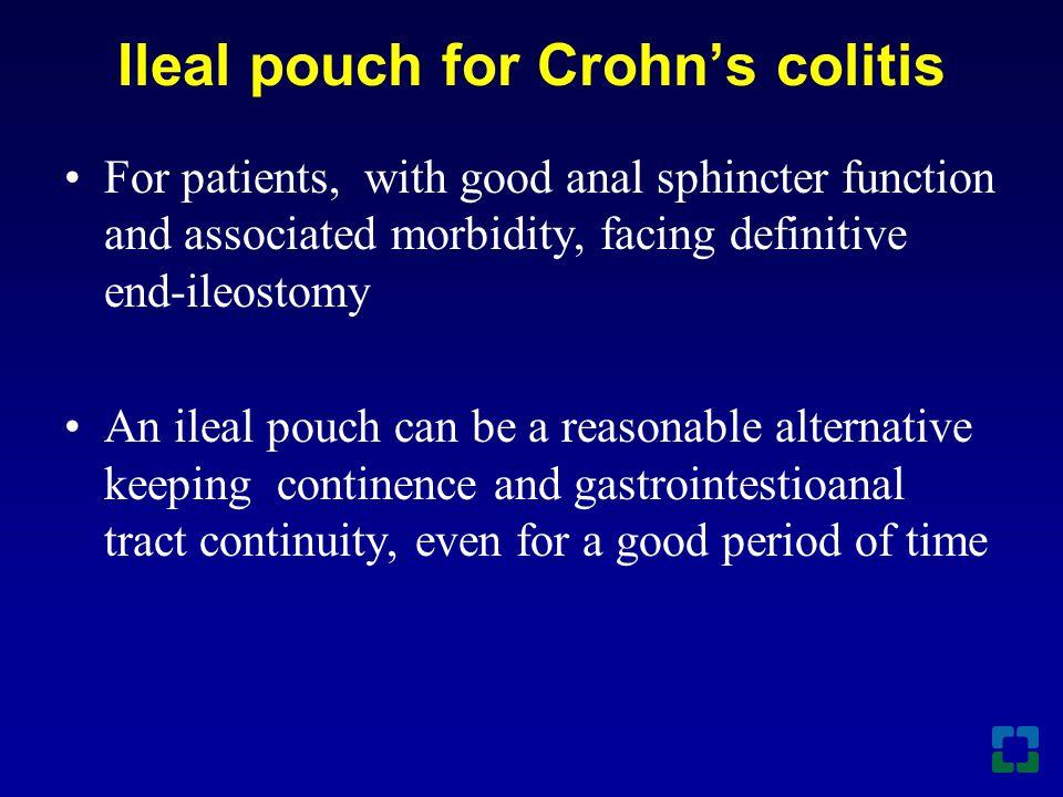 Ileal pouch for Crohn's colitis