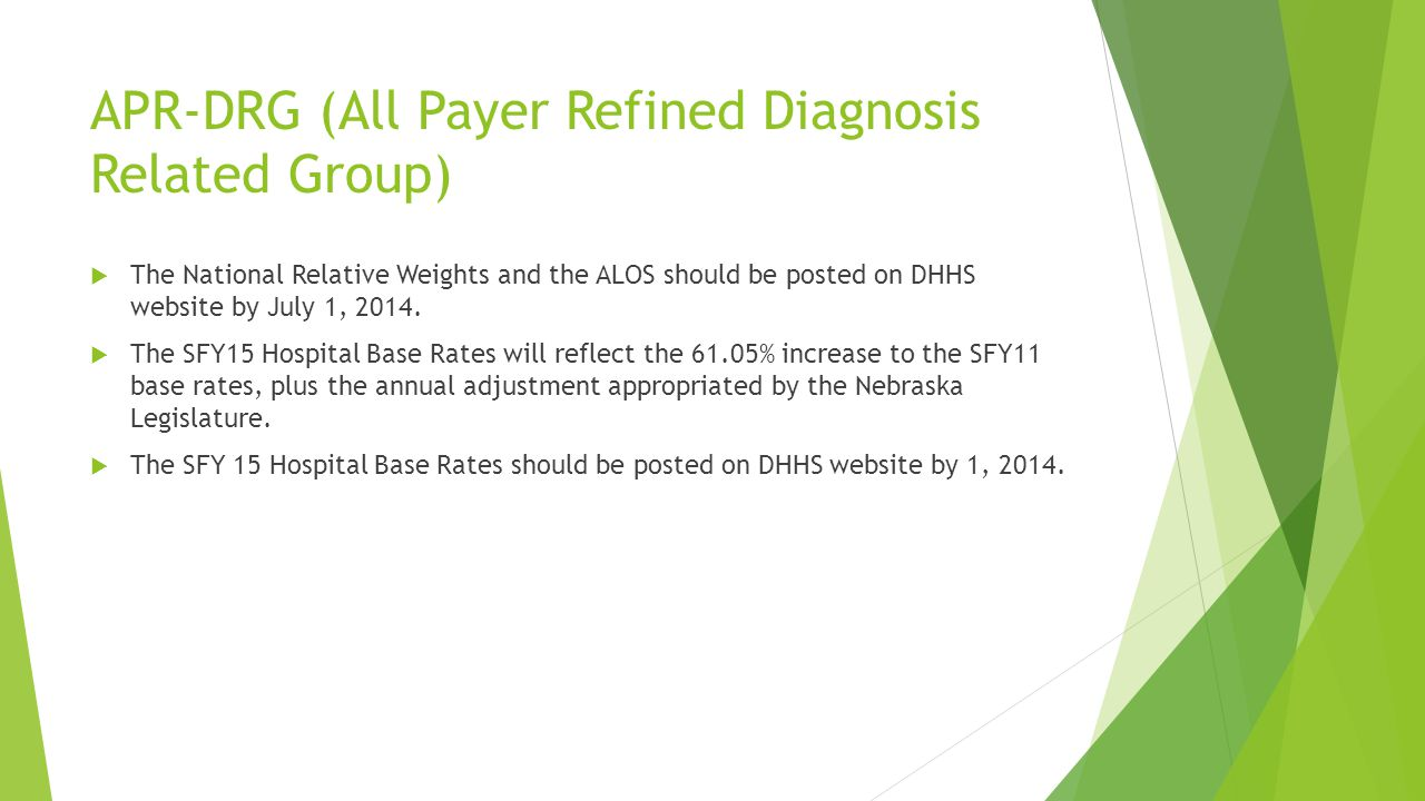 APR-DRG (All Payer Refined Diagnosis Related Group)