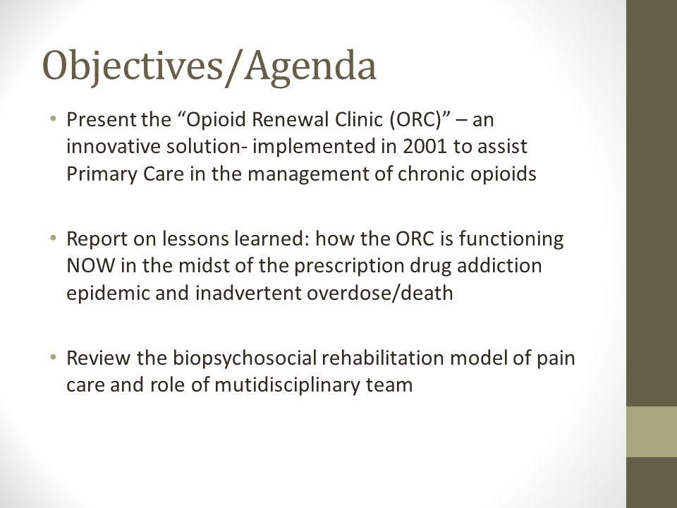 Objectives/Agenda