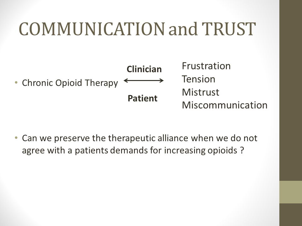 COMMUNICATION and TRUST