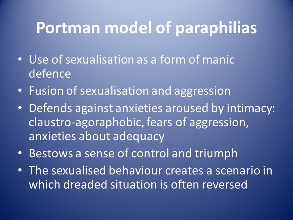 Portman model of paraphilias