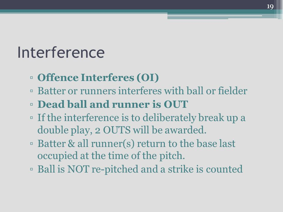 Interference Offence Interferes (OI)