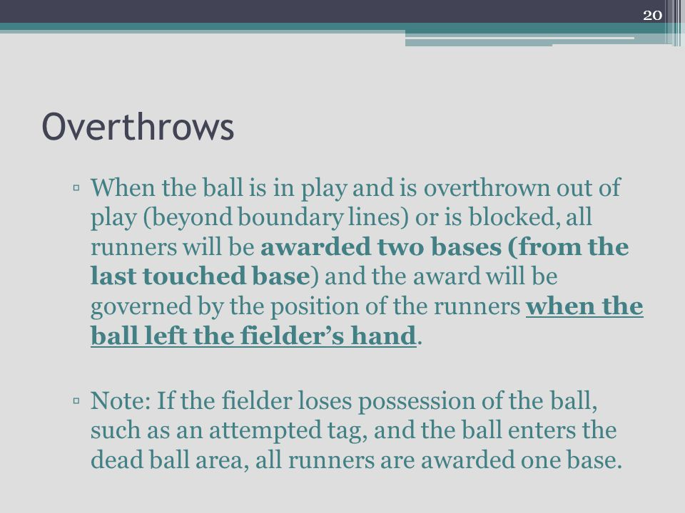 Overthrows