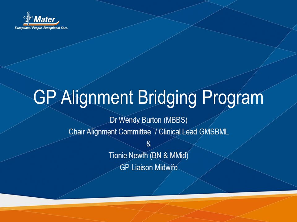 GP Alignment Bridging Program