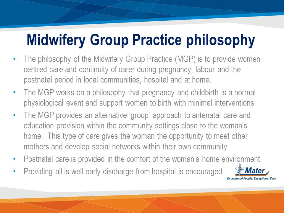 Midwifery Group Practice philosophy