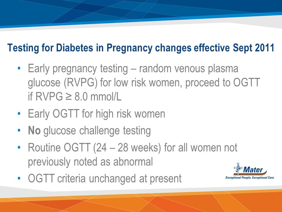 Testing for Diabetes in Pregnancy changes effective Sept 2011