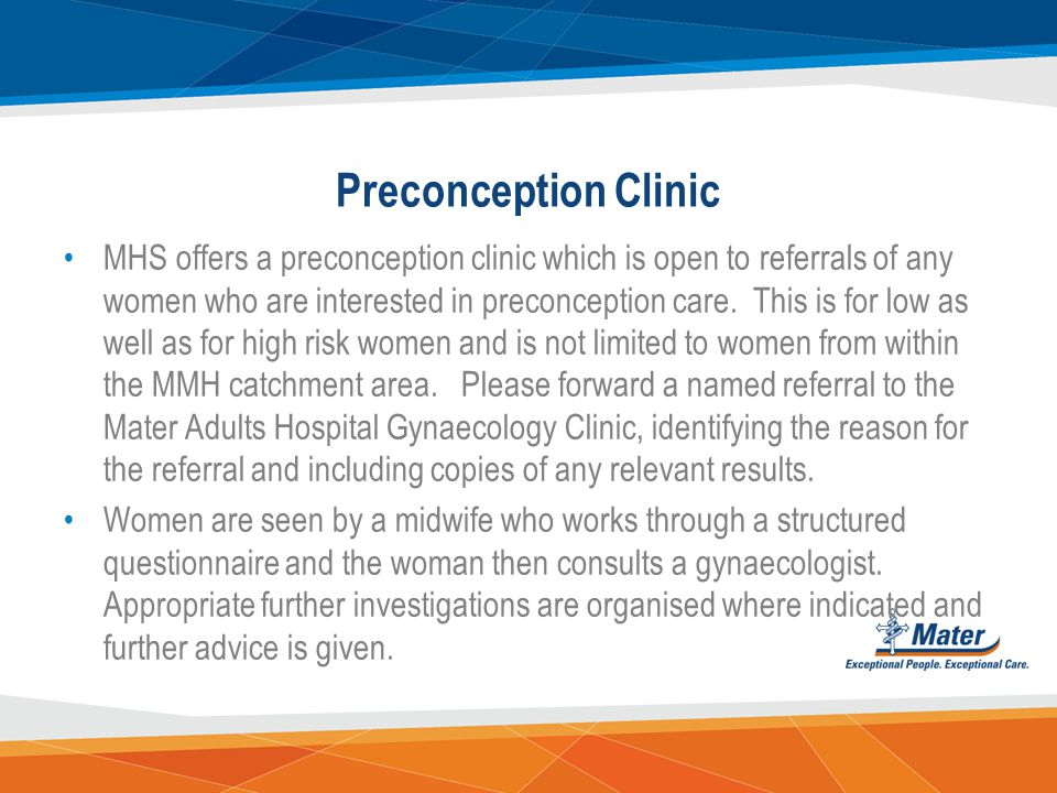 Preconception Clinic