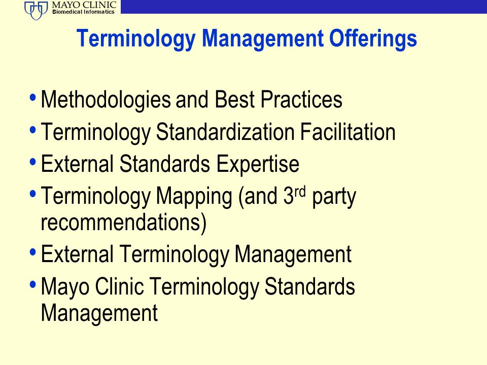 Terminology Management Offerings
