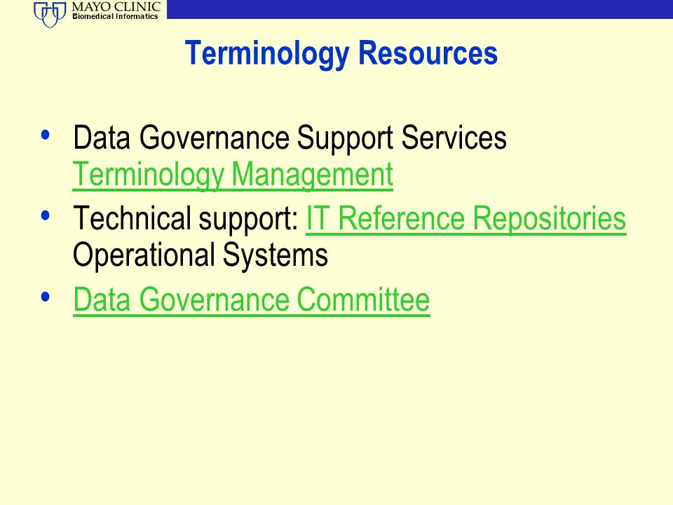 Terminology Resources