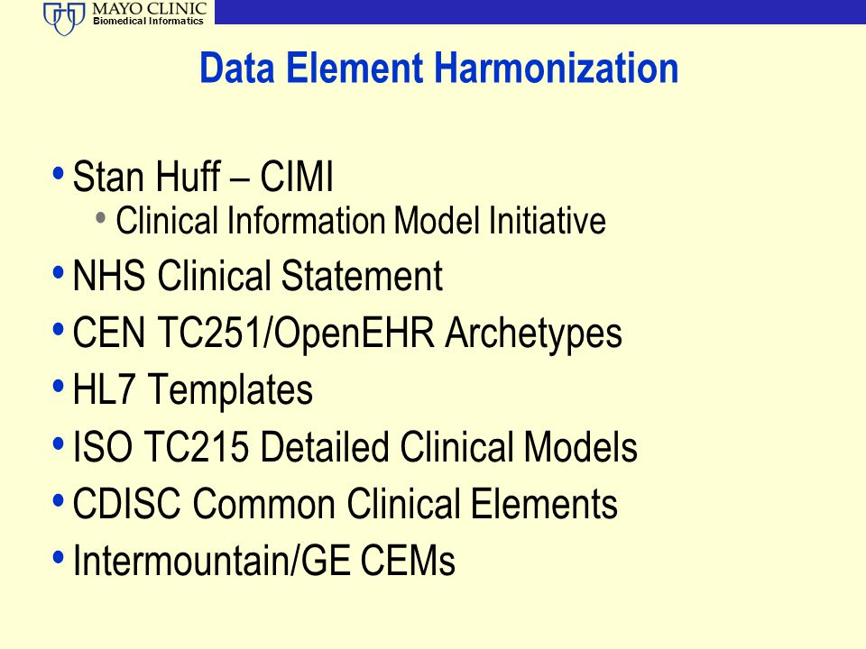 Data Element Harmonization