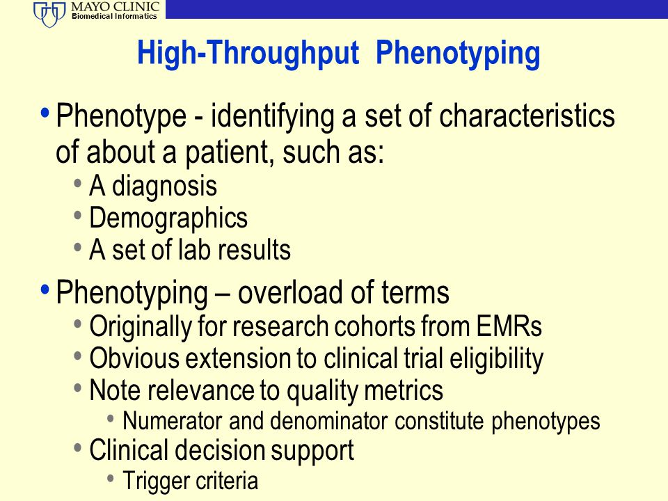 High-Throughput Phenotyping
