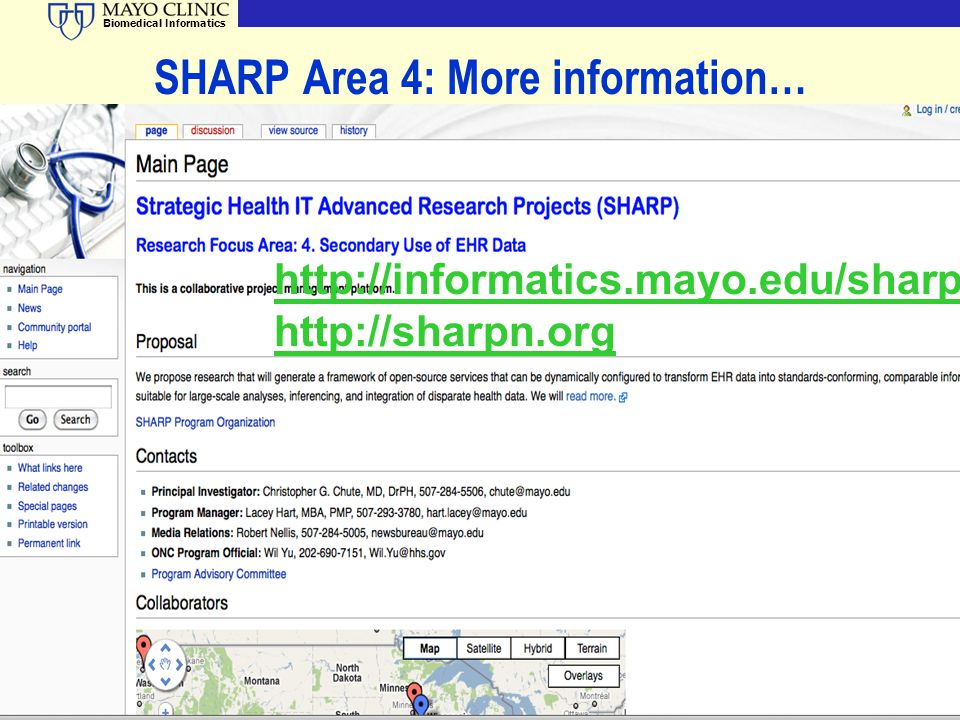 SHARP Area 4: More information…