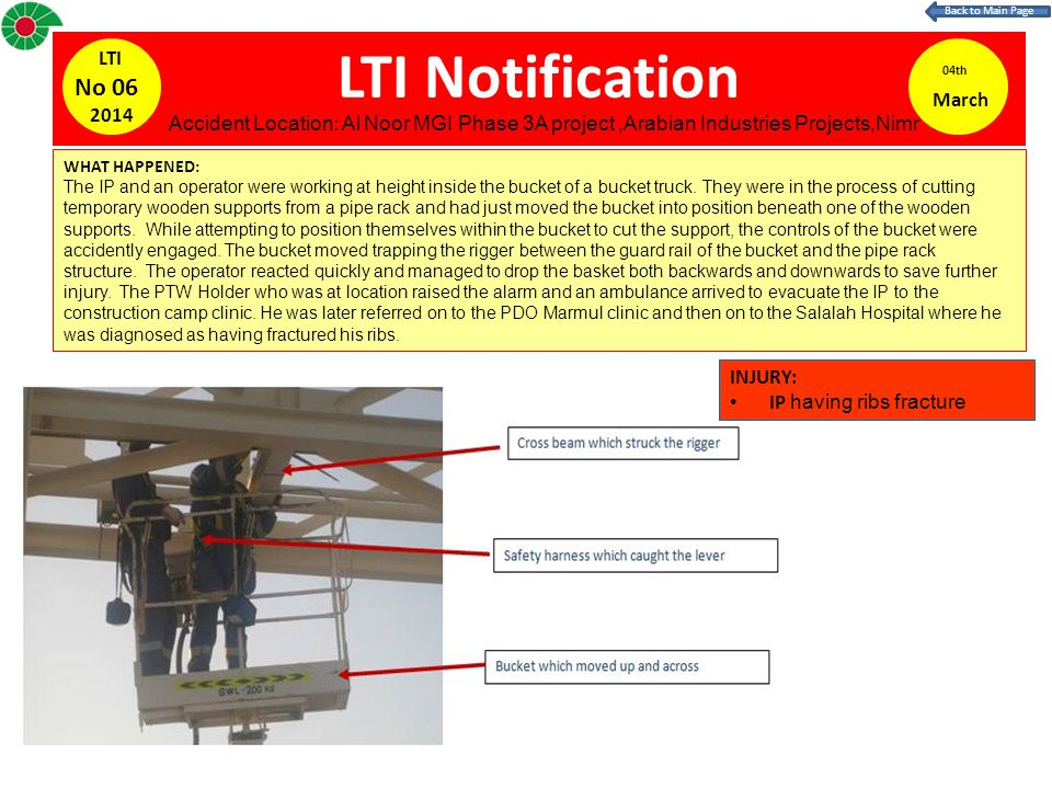 LTI Notification No 06 LTI 04th March 2014