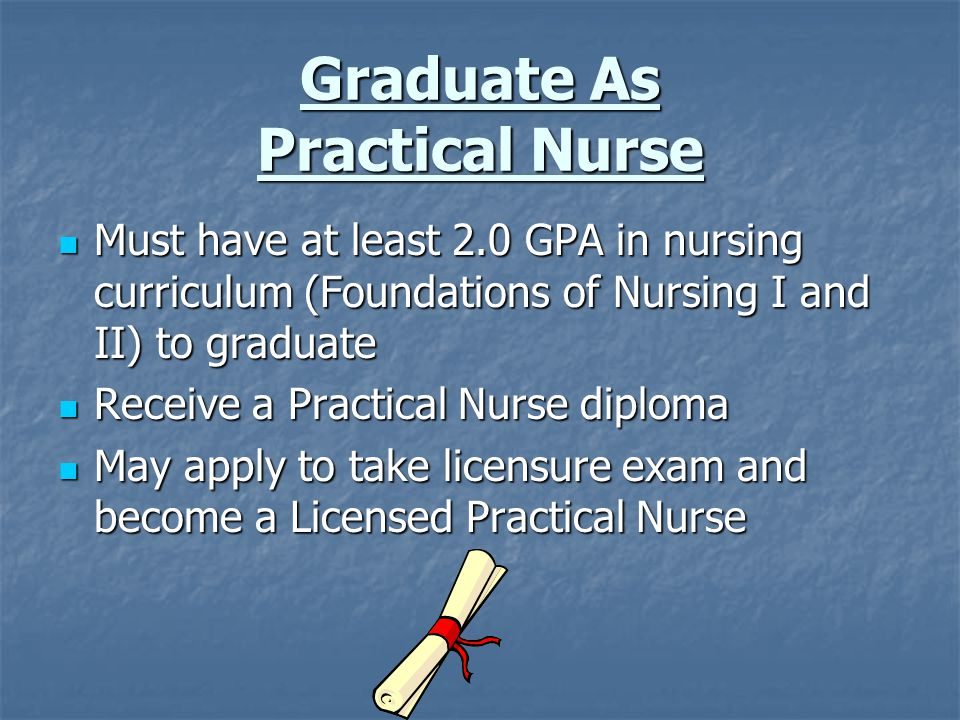Graduate As Practical Nurse