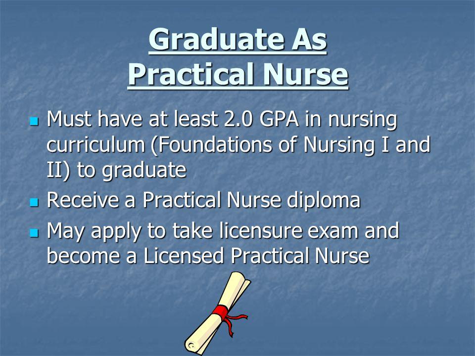 Graduate As Practical Nurse