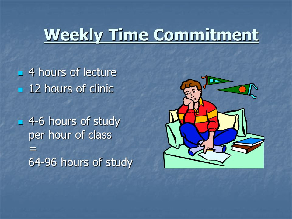 Weekly Time Commitment