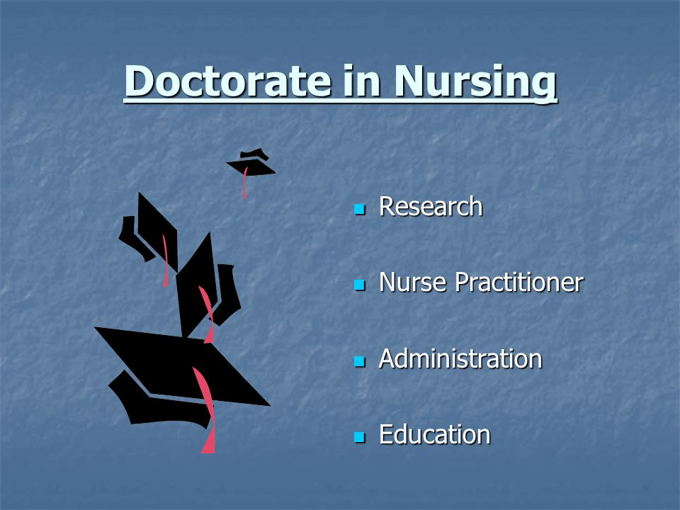 Doctorate in Nursing Research Nurse Practitioner Administration