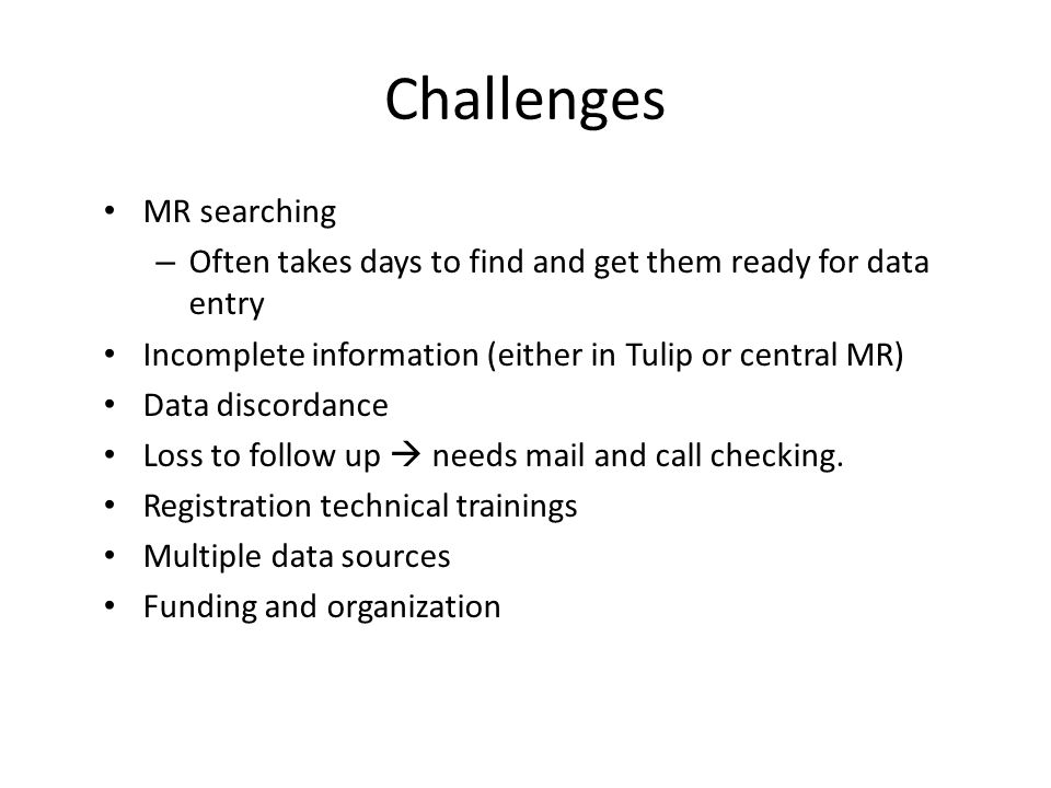 Challenges MR searching