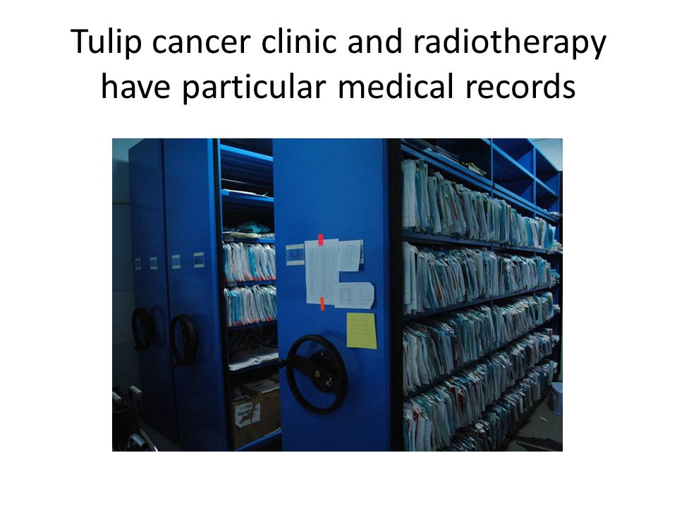 Tulip cancer clinic and radiotherapy have particular medical records