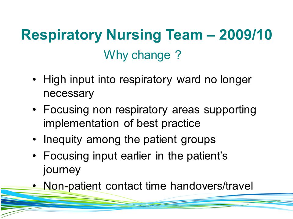 Respiratory Nursing Team – 2009/10