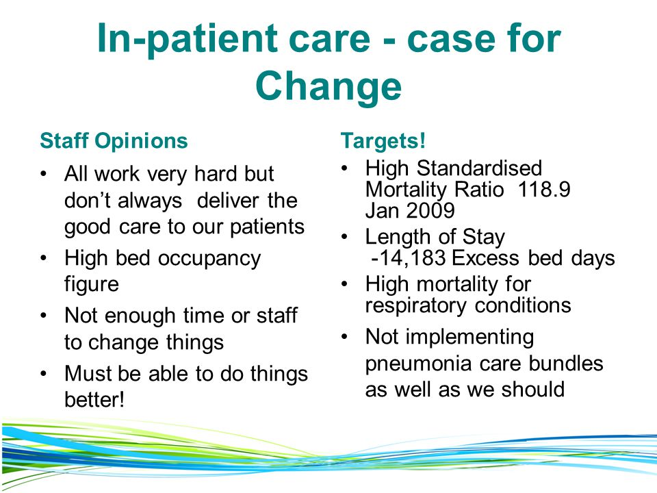 In-patient care - case for Change