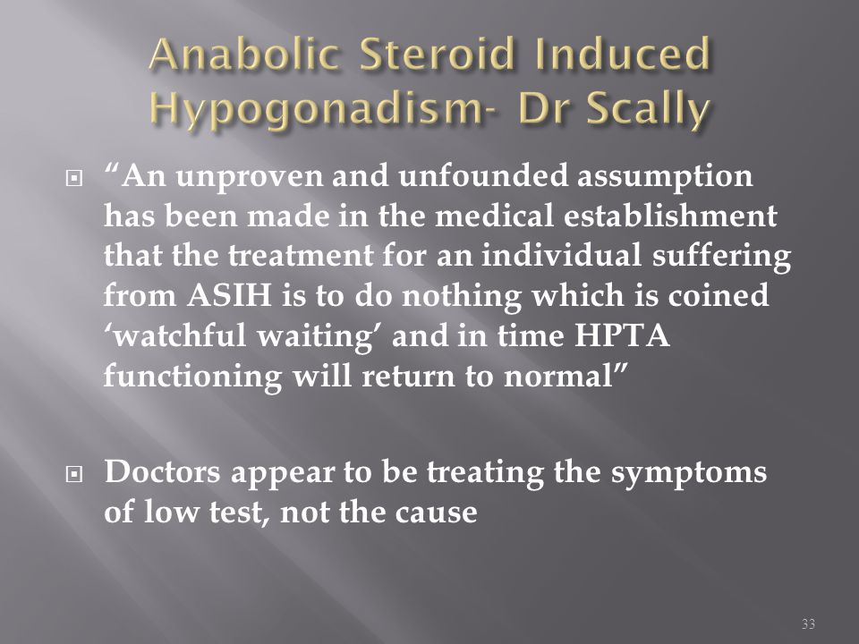 Anabolic Steroid Induced Hypogonadism- Dr Scally