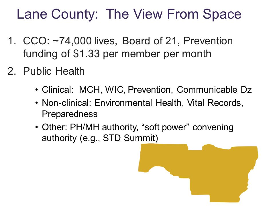 Lane County: The View From Space
