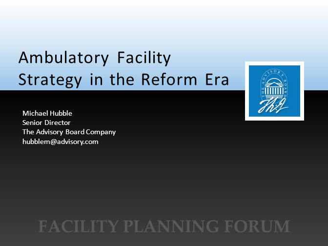 Facility Planning Forum