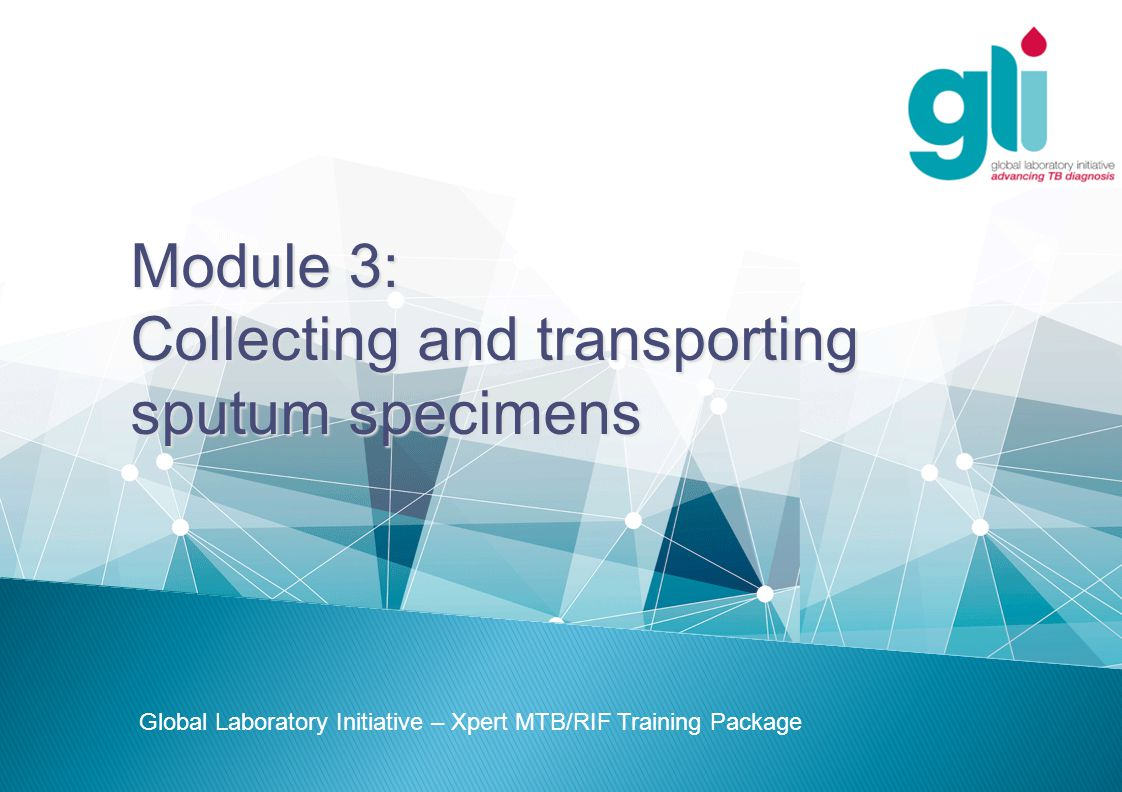 Collecting and transporting sputum specimens