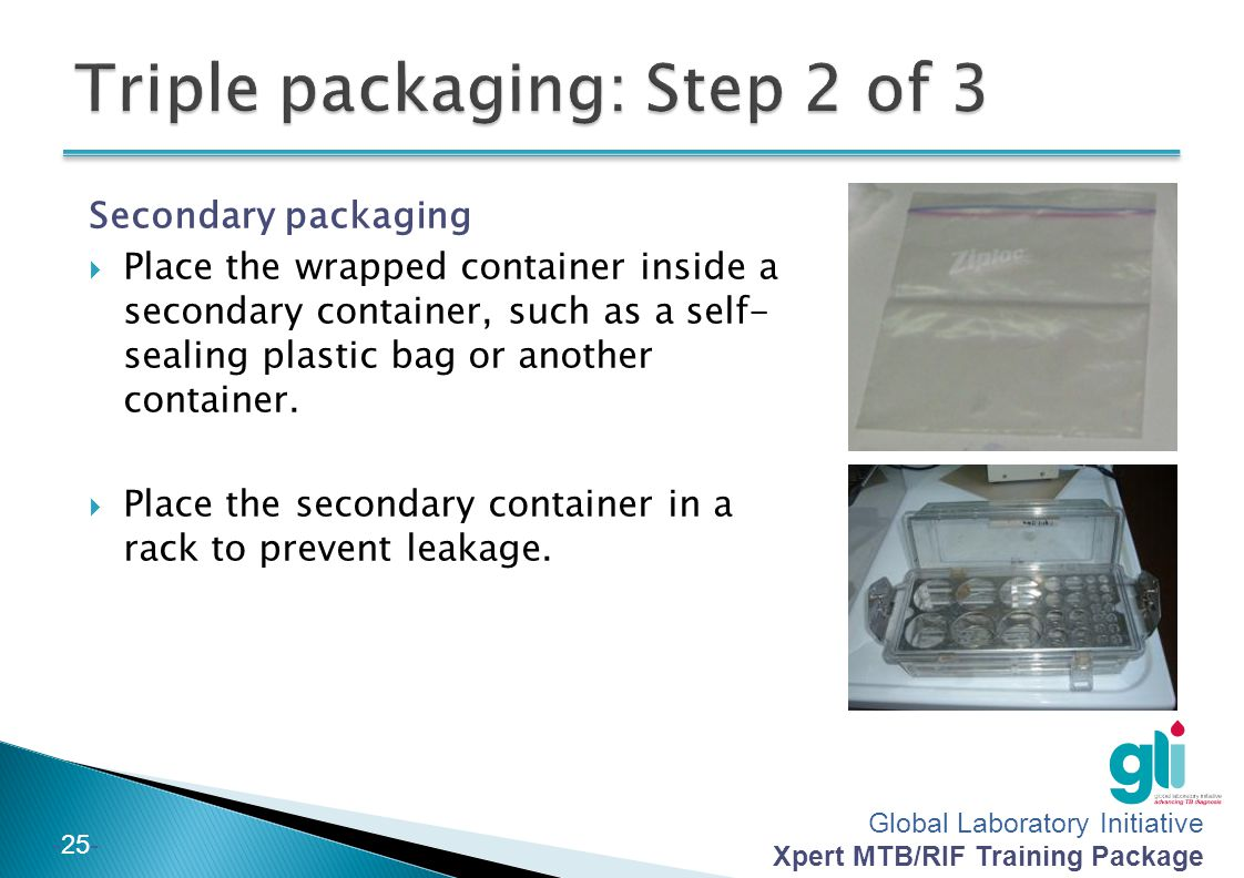 Triple packaging: Step 2 of 3