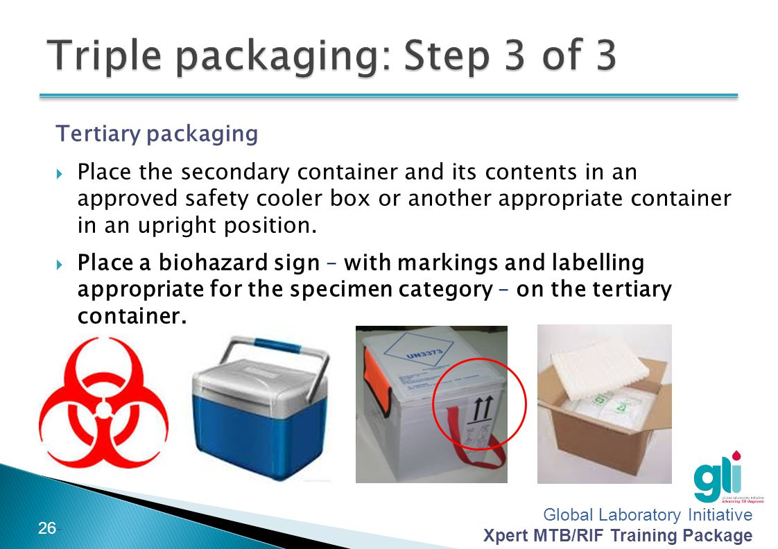 Triple packaging: Step 3 of 3