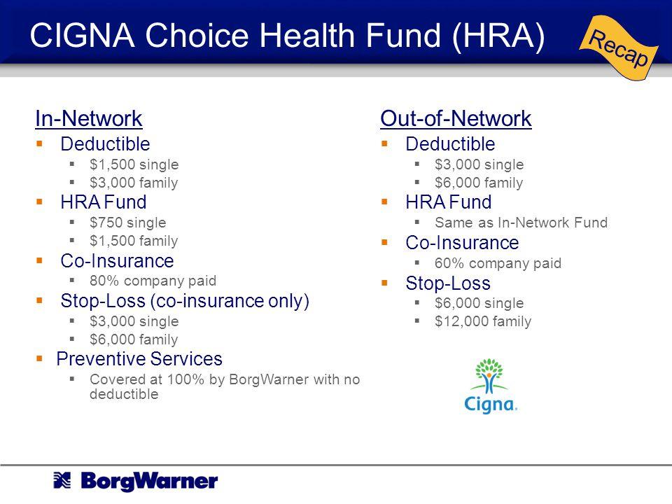 CIGNA Choice Health Fund (HRA)