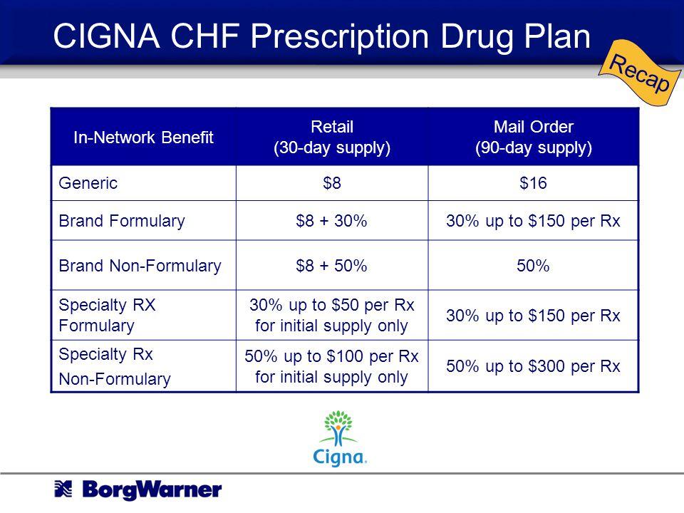 CIGNA CHF Prescription Drug Plan