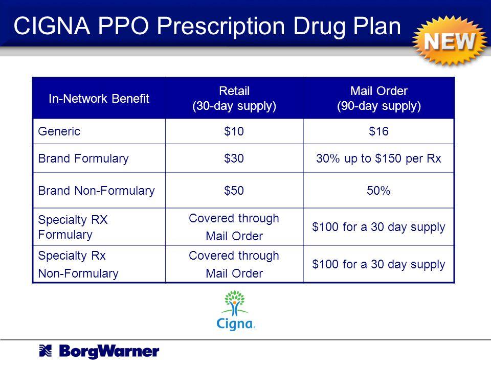 CIGNA PPO Prescription Drug Plan