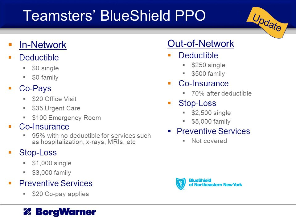 Teamsters' BlueShield PPO