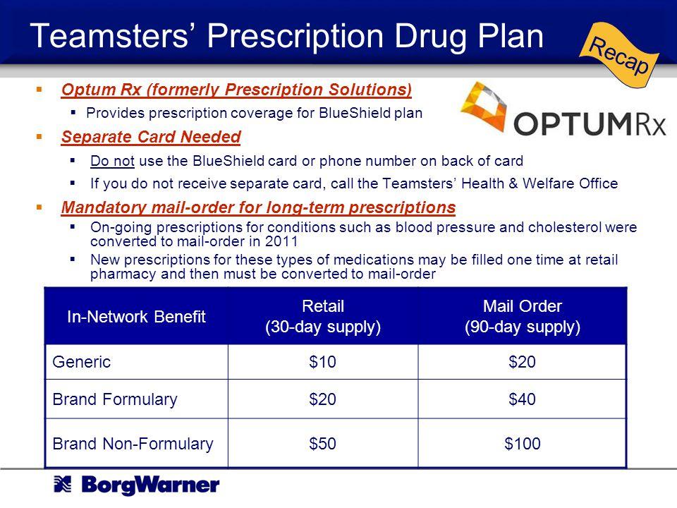 Teamsters' Prescription Drug Plan