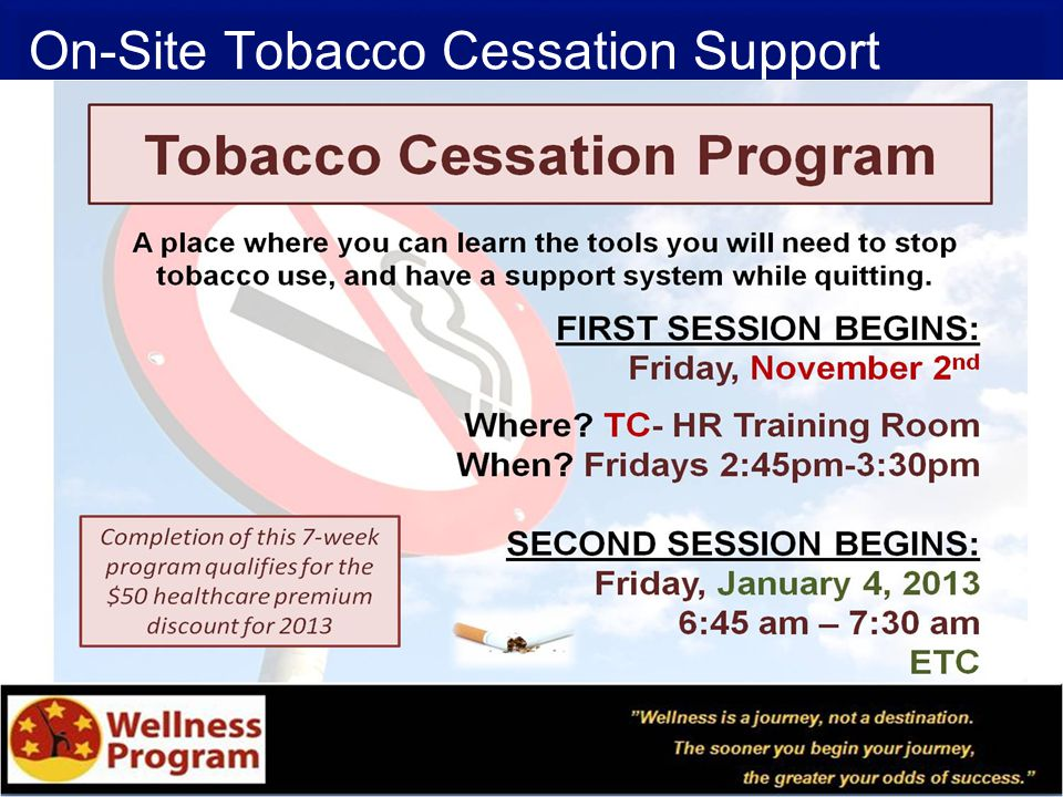 On-Site Tobacco Cessation Support