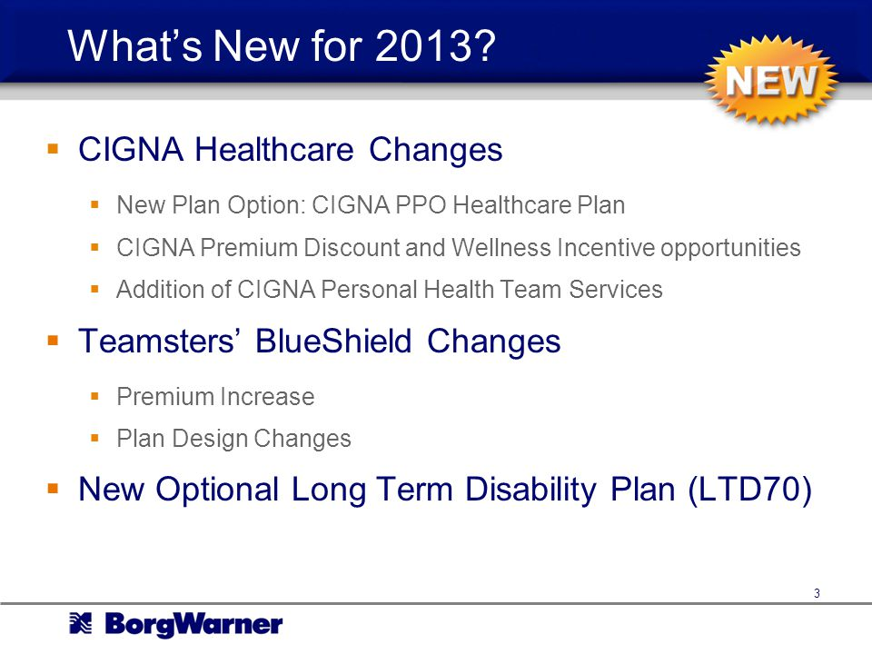 What's New for 2013 CIGNA Healthcare Changes