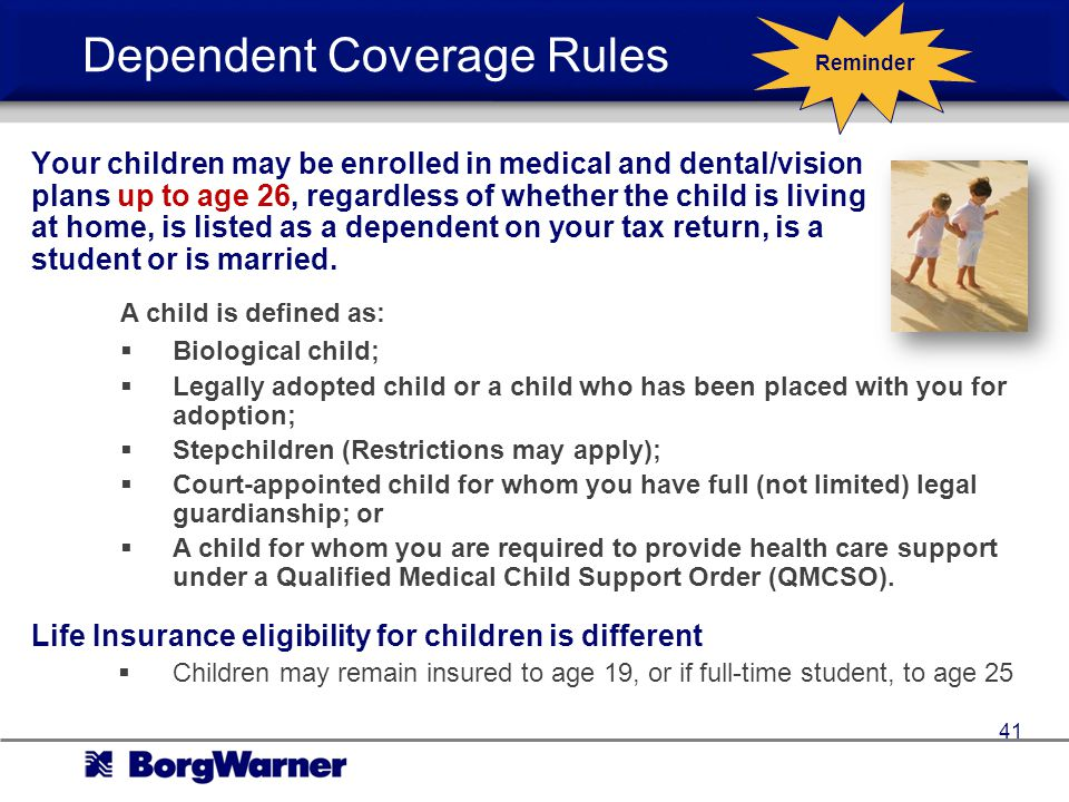 Dependent Coverage Rules