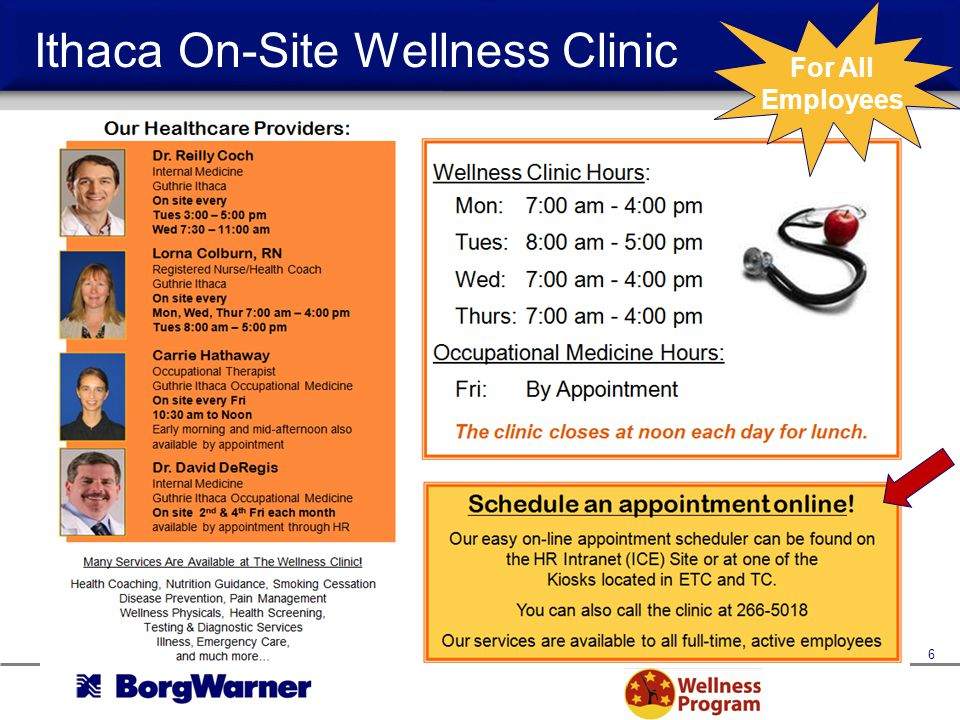 Ithaca On-Site Wellness Clinic