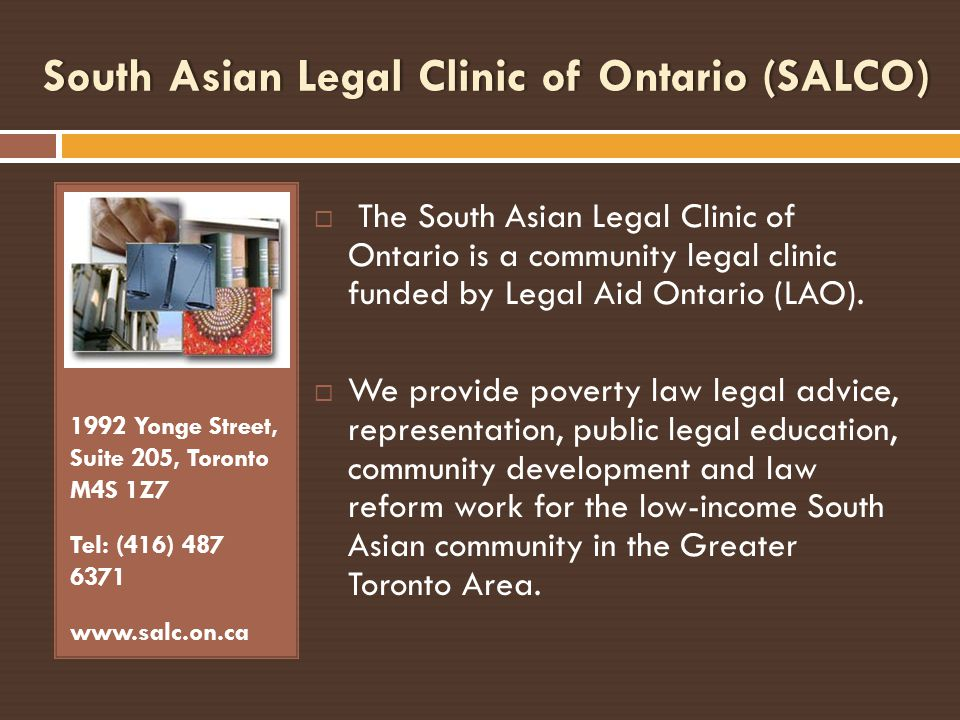 South Asian Legal Clinic of Ontario (SALCO)