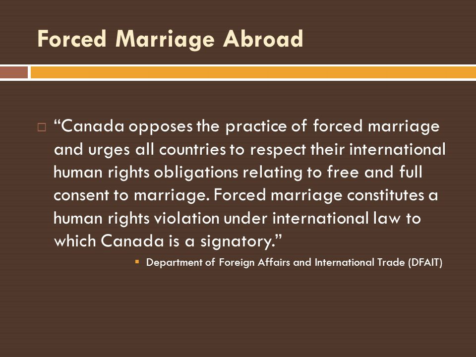 Forced Marriage Abroad