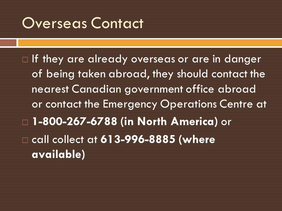 Overseas Contact