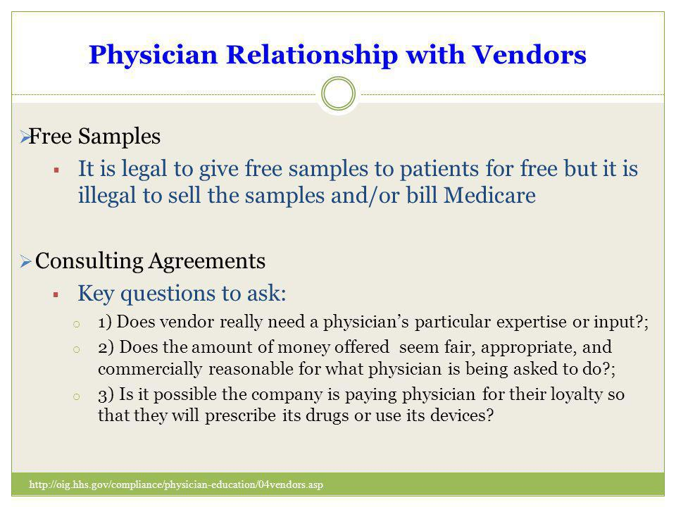 Physician Relationship with Vendors